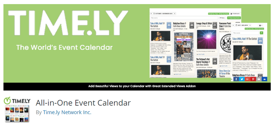 All-in-One Event Calendar By Time.ly Network Inc.