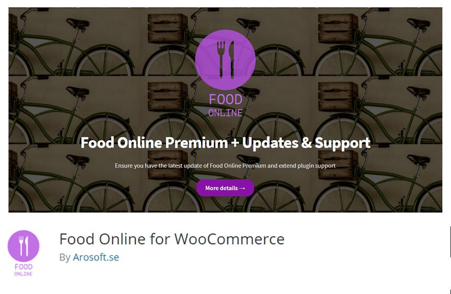 Food Online for WooCommerce by Arosoft.se