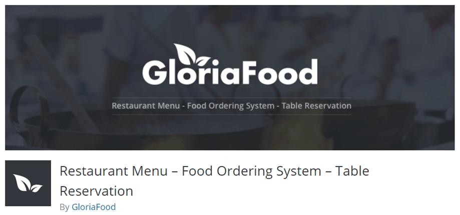Gloria Food Restaurant Menu Plugin