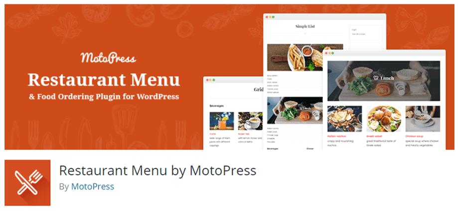 Restaurant Menu by MotoPress