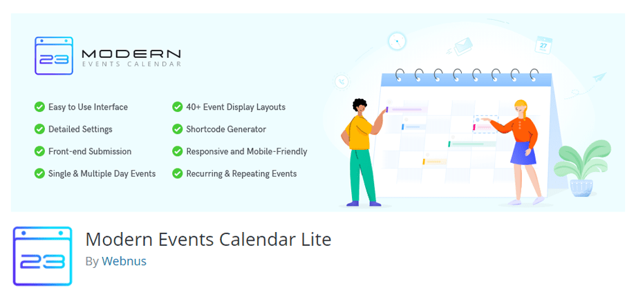 Modern Events Calendar By Webnus