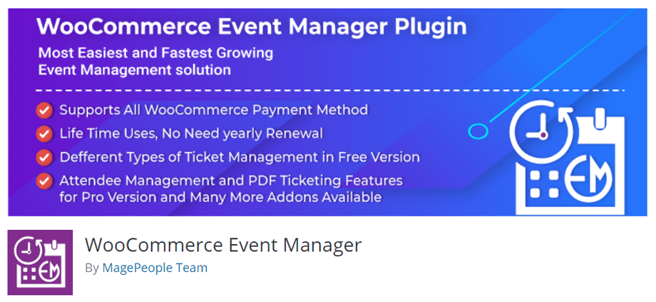WooCommerce Event Manager By MagePeople Team