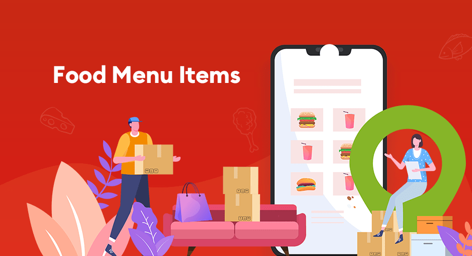 Food menu items with multivendor support