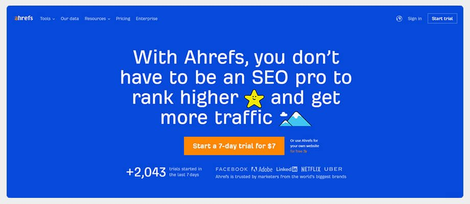 ahref website traffic check